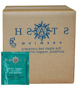 Stash Tea Super Mint Herbal Tea, 100 Count
