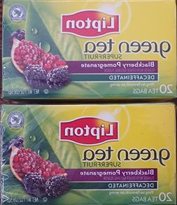 Lipton Green Tea, Decaffeinated, Superfruit Blackberry Pomeg
