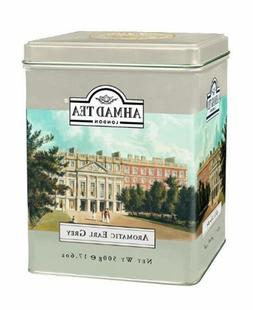 Ahmad Tea London, Aromatic Earl Grey in Tin, 17.6 Oz / 500 G