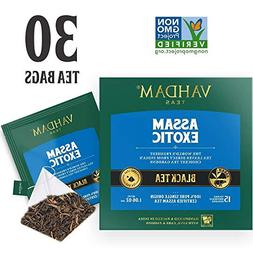 VAHDAM, Assam Black Tea  - Long Leaf Assam Tea Bags - RICH &