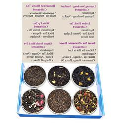 Tea Sampler - Black Tea - Caffeinated - Gift Box - Loose Lea
