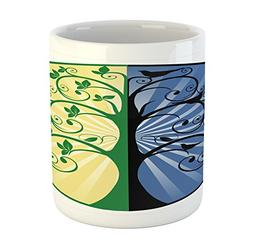 Tree of Life Mug by Ambesonne, Yin Yang Life and Death Tree