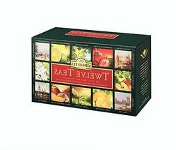 Ahmad Tea Twelve Teas Variety Gift Box, 60 Foil Enveloped Te