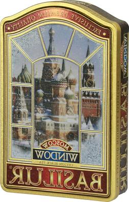 Basilur Window Moscow Gift Tin - Black tea with Cherry, Saff