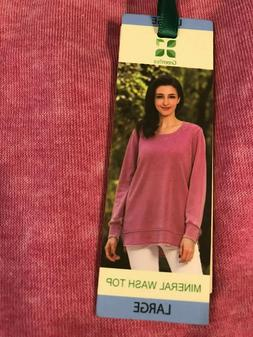 GREEN TEA WOMEN'S OVERSIZED MINERAL WASH TOP  ASSORTED SIZES